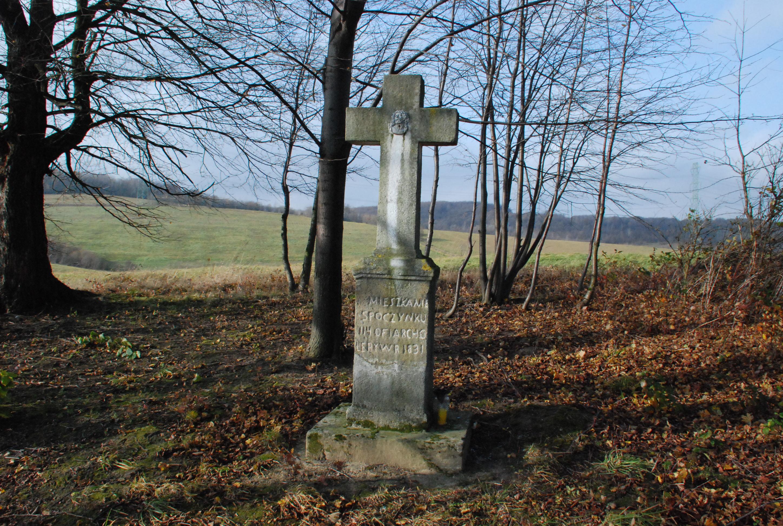 Nagrobek na cmentarzu cholerycznym
