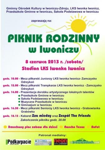 Piknik Rodzinny  w Iwoniczu