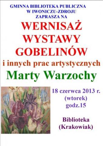 Wystawa gobelinów - Pani  Marty Warzochy