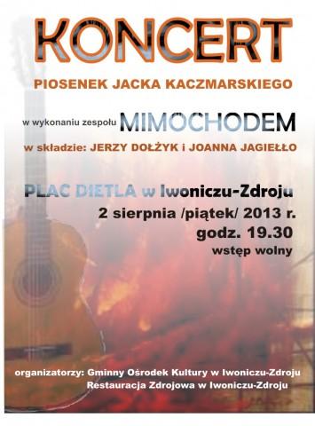 Koncert piosenek Jacka Kaczmarskiego