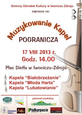17 sierpnia - Muzykowanie Kapel Pogranicza w Iwoniczu-Zdroju