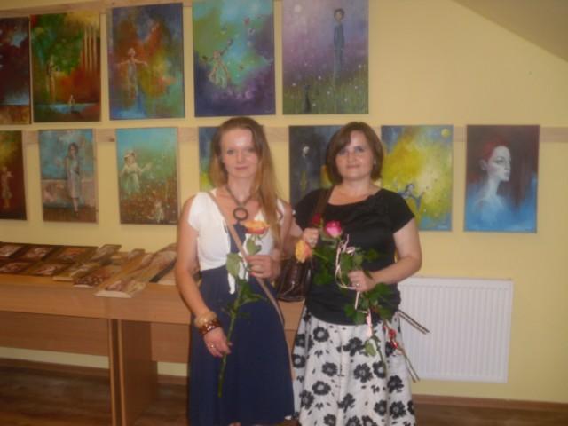 Wernisaż wystawy malarstwa Iwony Szmist i Katarzyny Oczoś.