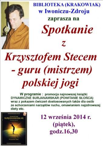 Spotkanie z Krzysztofem Stecem - mistrzem polskiej jogi