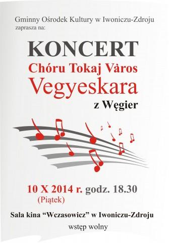 Koncert węgierskiego chóru z Tokaju