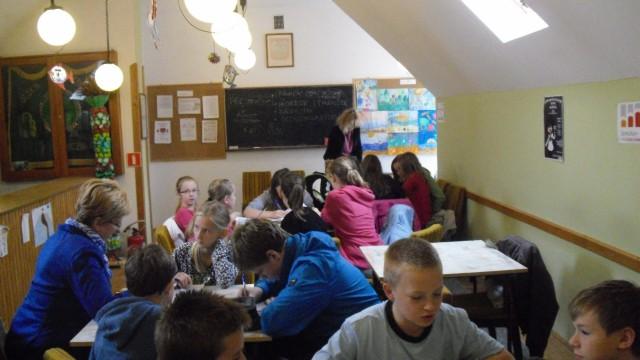 Warsztaty literackie w bibliotece w Iwoniczu