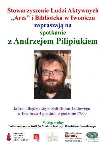 Spotkanie autorskie z Andrzejem Pilipiukiem.